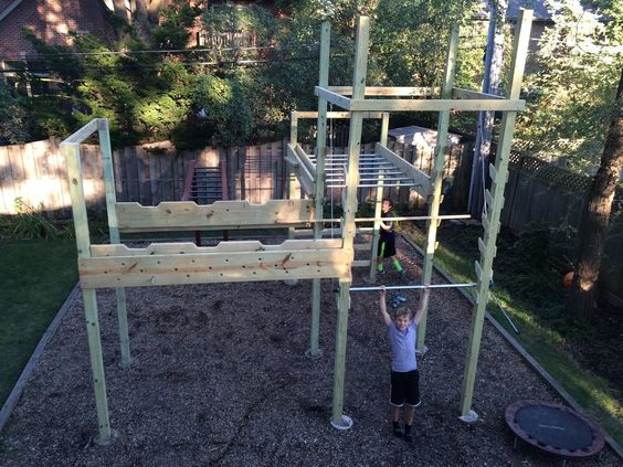 Backyard American Ninja Warrior Obstacle Course : Ninja warrior, American ninja warrior and Ninja warrior course on