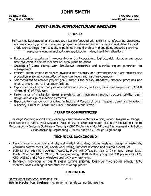 Entry level phd resume