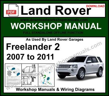 Land Rover Freelander 2 Service Repair Workshop Manual Download Land Rover Land Rover Freelander Freelander 2