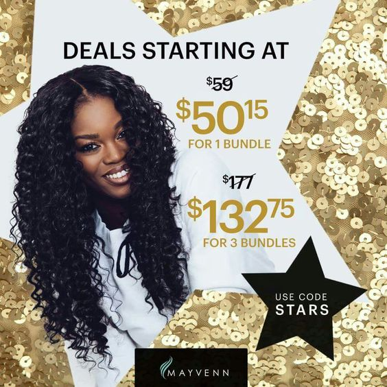 Shine bright like a star! Let Mayvenn help you achieve star-level glam with 15% off all products using code STARS http://Tiffanymoore.mayvenn.com ! #SuperStar #StarQuality #MayvennHair #Mayvenn #MayvennMade #VirginHair #Bundes #Star