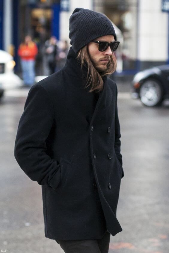 How To Wear A Beanie For Men Mens Clothing Styles Mens Coats Mens Outfits
