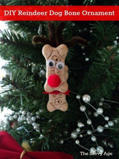 Reindeer Ornament From Dog Bones