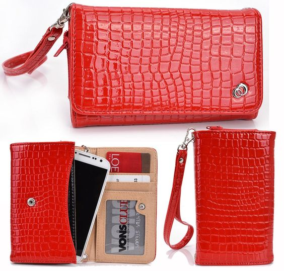 "RED| [DiVA] Universal Women's Wrist-let Wallet Clutch COMPATIBLE WITH: XIAOMI| Mi 4c, Redmi 2 Prime, Redmi 2A, Redmi 2 Pro, Redmi 2, Mi 4i. COMPATIBLE WITH: XIAOMI| Mi 4c, Redmi 2 Prime, Redmi 2A, Redmi 2 Pro, Redmi 2, Mi 4i, Redmi 1S, Mi 4. Approximate universal phone pouch dimensions: 5.5"" x 2.9"" x .5"". Snap button closure that will hold your belongings in place. Removable wrist strap for your carrying convenience. Compartment for your phone with zippered side for expansion and security."