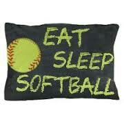 (Eat, Sleep, Softball Pillow )