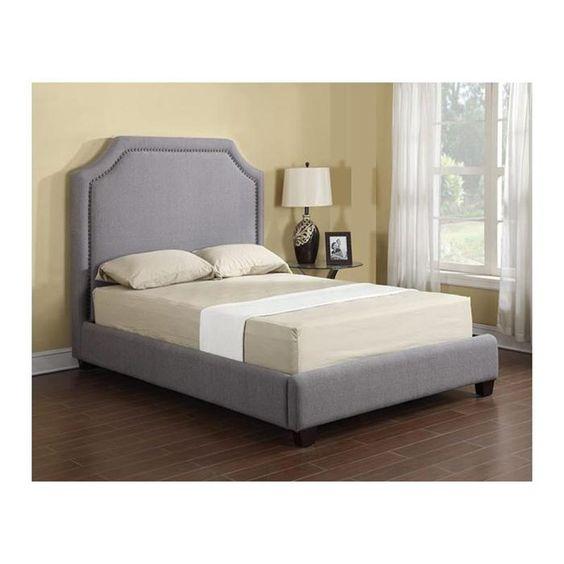 Nebraska Furniture Mart Mattress Sale #25: London Queen Upholstered Bed In Grey | Nebraska Furniture Mart