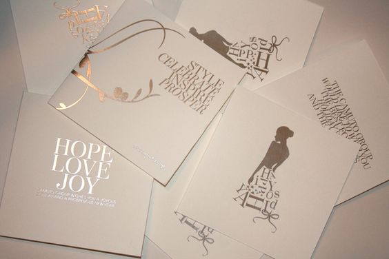 Holiday Cards by Kristen Martin, via Behance