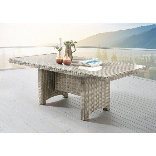 Dakota Fields Esstisch Sandefur Aus Polyrattan In 2021 Dining Table Rattan Dining Table Outdoor Dining Table