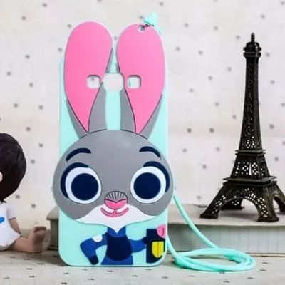 Zootopia Disney Bunny Judy Hopps Flip Teléfono Estuche Cubierta para iPhone Samsung
