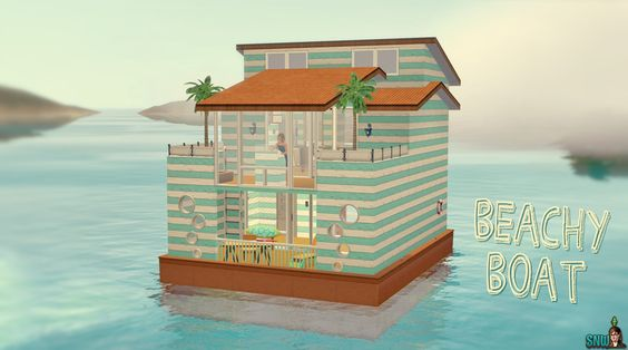 Beachy Boat  #sims #thesims #desims #thesims3 #desims3 #thesims3islandparadise #desims3exotischeiland #houseboat #woonboot #summer #zomer #sea #zee #snw #snwgames #simsnetwork #simsnetwerk  http://www.simsnetwork.com/downloads/the-sims-3/lots/beachy-boat