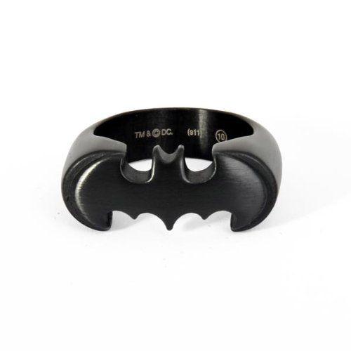 Fantastico #Anello Nero con logo di #Batman della DC Comics