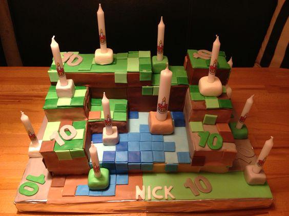 Geburtstagskuchen Minecraft