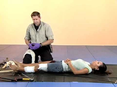 ▶ Blunt Force Trauma First Aid - YouTube.  Broken Leg