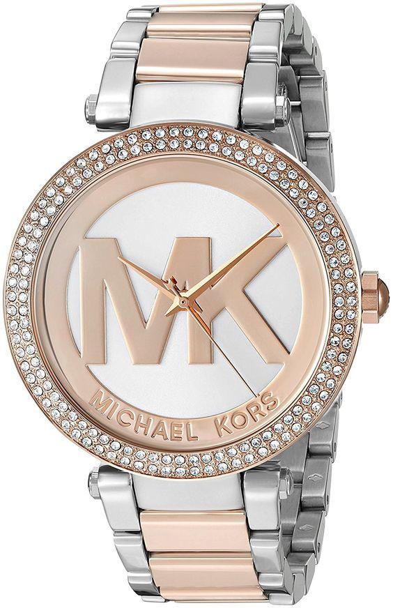 Amazon.com: Michael Kors Women's Parker Two-Tone Watch MK6314: Michael Kors: Clothing