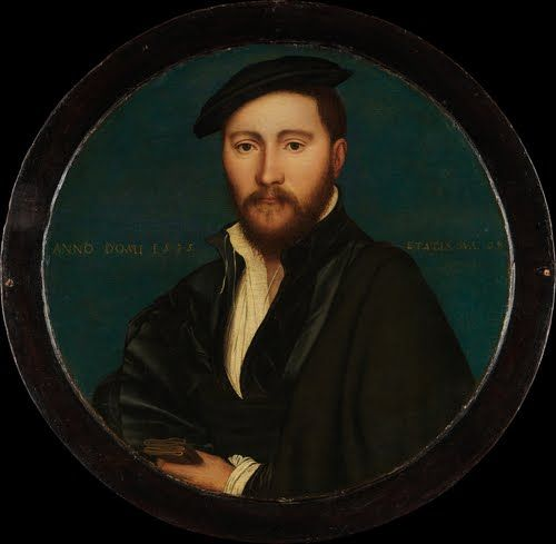 Rafe Sadler (possible portrait), Cromwell's chief clerk by Hans Holbein.