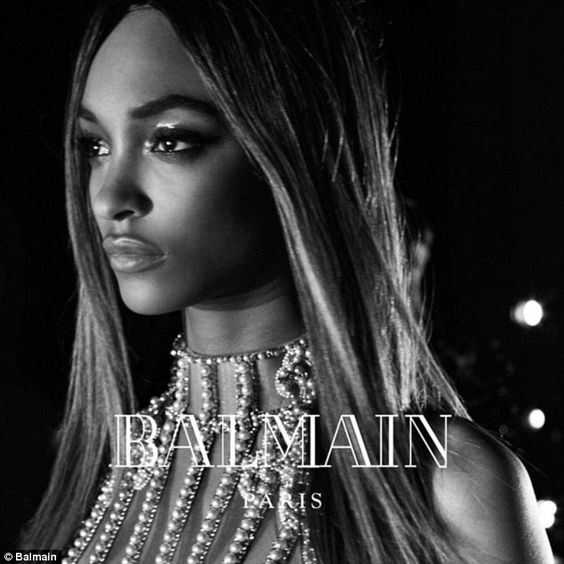 She's back: Jourdan Dunn, another Balmain favorite, returns for the Fall 2016 campaign, to...: