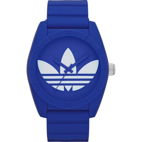 Adidas Unisex ADH6169 Santiago Blue Watch (€50) ❤ liked on Polyvore featuring jewelry, watches, accessories, adidas, blue, steel watches, unisex jewelry, water resistant watches and adidas watches