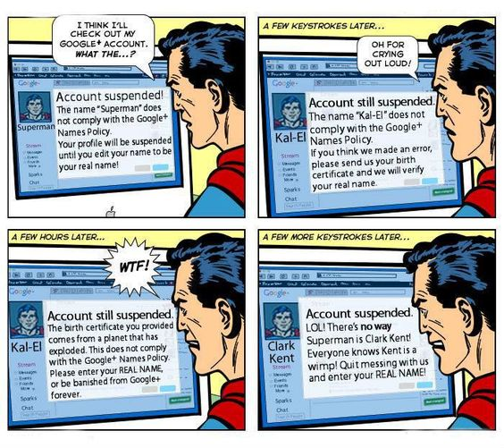 Even Google+ hates Superman