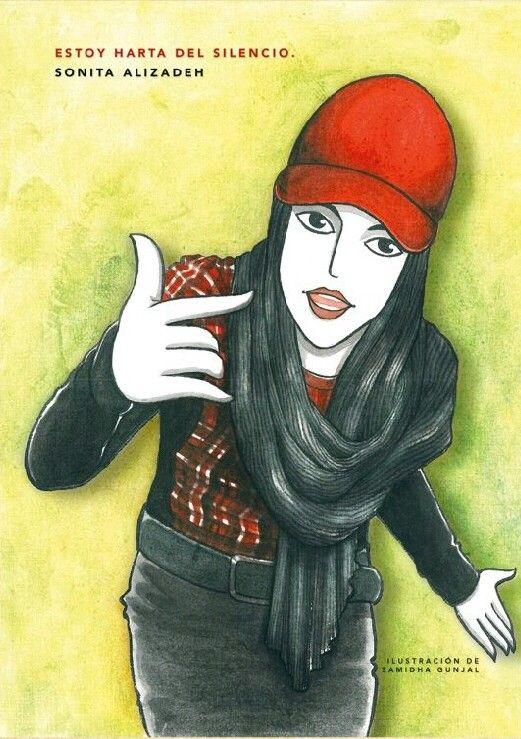 Image result for sonita alizadeh illustration