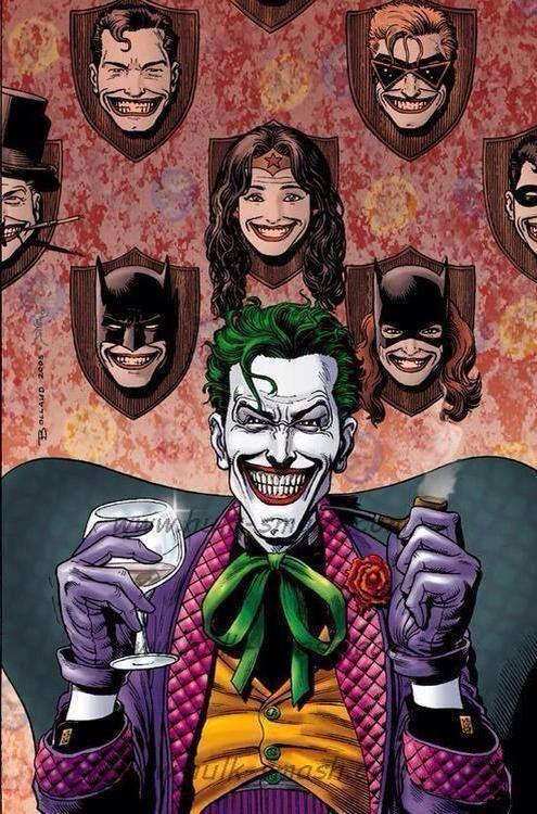 Joker's wall of trophies