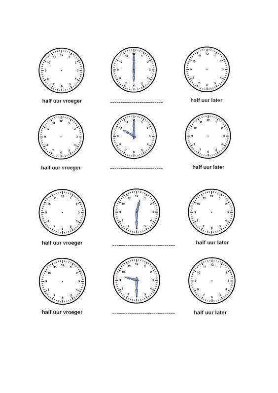 oefenen met klokkijken: