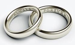 Top 10 ideas of what to have engraved on your wedding bands...very helpful.