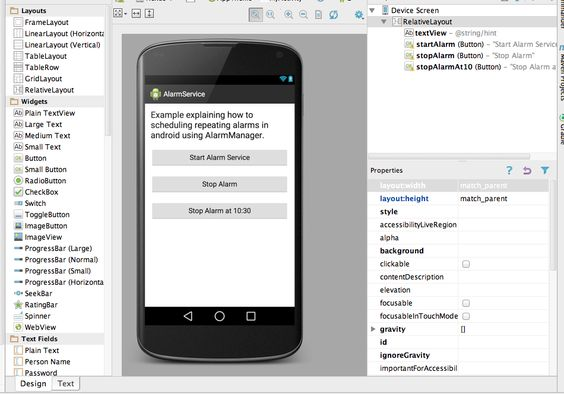 AlarmManager Example in Android