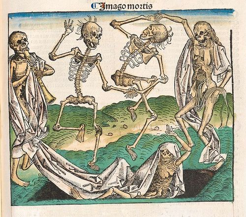 Danse macabre or totentanz or the dance of death