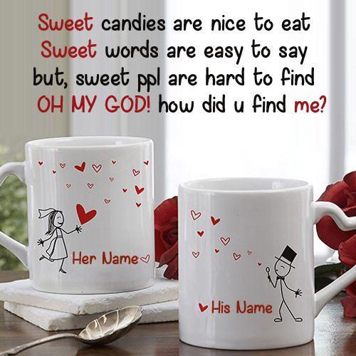Write Name On Couple Coffee Mug With Love Quotes Picture Print Name On Love Coffee Mug Personalized Love Quotes For Her Love Picture Quotes Couples Coffee Mugs