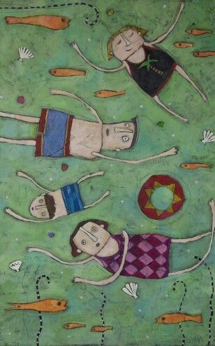 Family Vacation Mixed media 24 x 36 this speaks to me!: