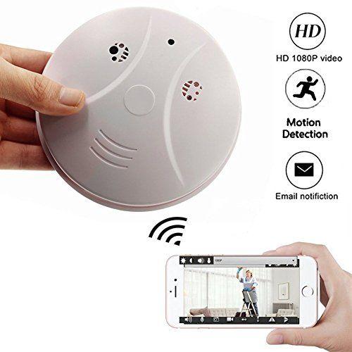 Smoke Detector Wireless IP Camera - TOTUOKEY Wi-Fi 1080P