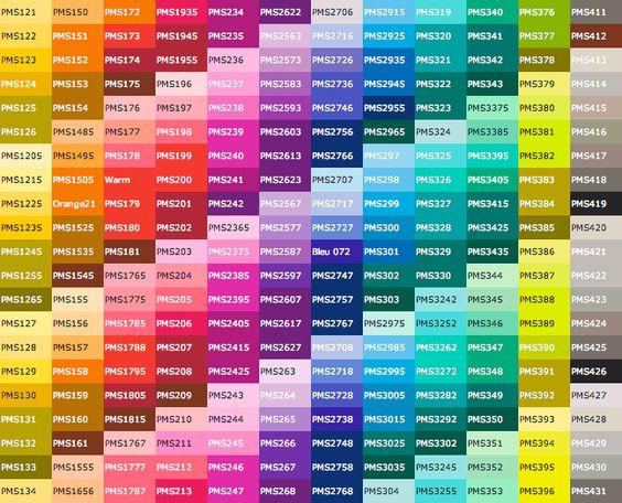 Pantone Color Chart Color Charts And Pantone Color On