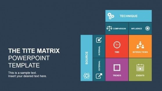 The Tite Matrix Powerpoint Template Business Powerpoint