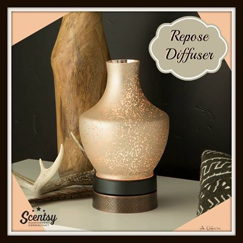 "Scentsy's ""Repose"" Essential Oil Diffuser new for fall and winter 2016. #handblowglass #lifetimewarranty #scentsbykris"