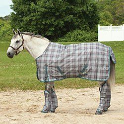 Waldhausen Comfort Turnout Blanket - Grey/Turquoise Check by Reitsport Waldhausen. $58.48. TheWaldhausen Comfort Turnout Blanketis a high quality blanket made of waterproof and breathable 600D polypropylene.The blanket is available in three weights: fleece-lined material (great for inbetween seasons), 200 g and 300 g thermo padding. Waterproof exterior keeps your horse dry and protected Breathable 600D polypropylene is durable and allows warm moisture to move away from the hors...