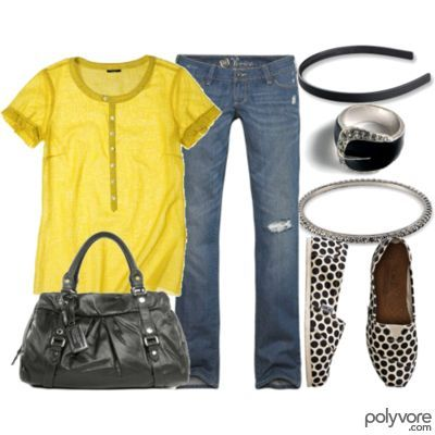 bright yellow with black accents