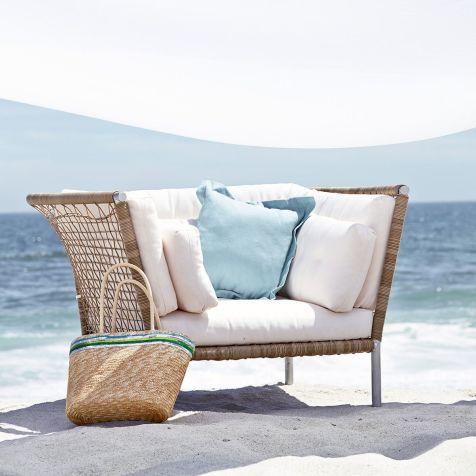 Gartensessel kunststoffgeflecht  Outdoor-Sessel, inkl. Kissen, Stahl, Kunststoffgeflecht, Polyester ...