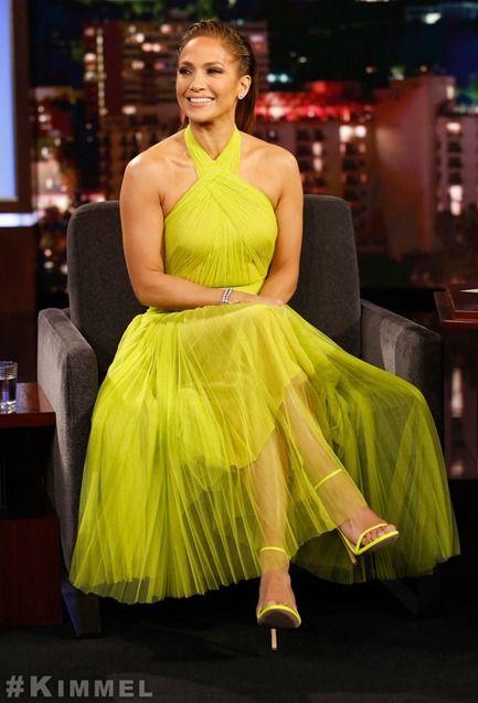 Jennifer Lopez In Maria Lucia Hohan – Jimmy Kimmel Live!