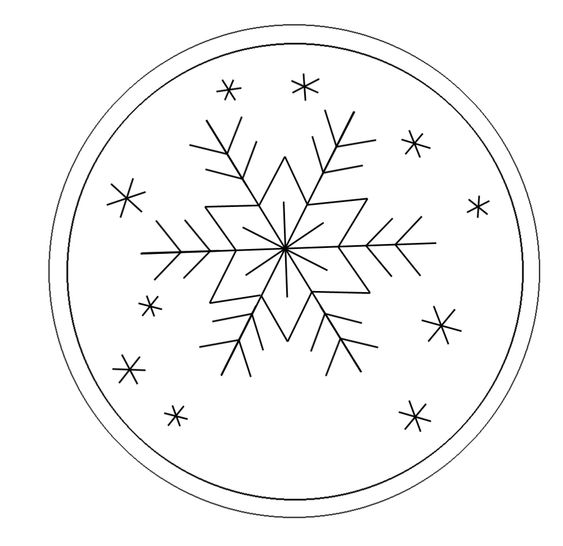 Snowflake Embroidery Pattern || Free Printable Repinned by RainyDayEmbrdry www.etsy.com/shop/RainyDayEmbroidery