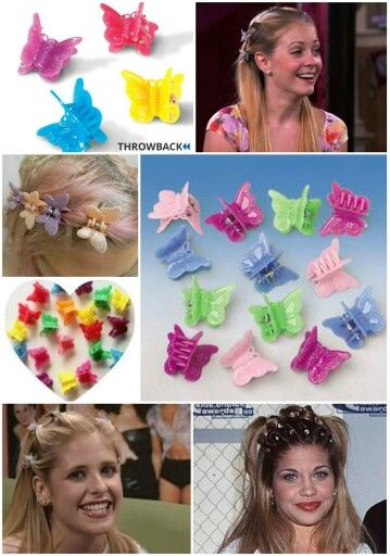 butterfly clips 90s fashion trends