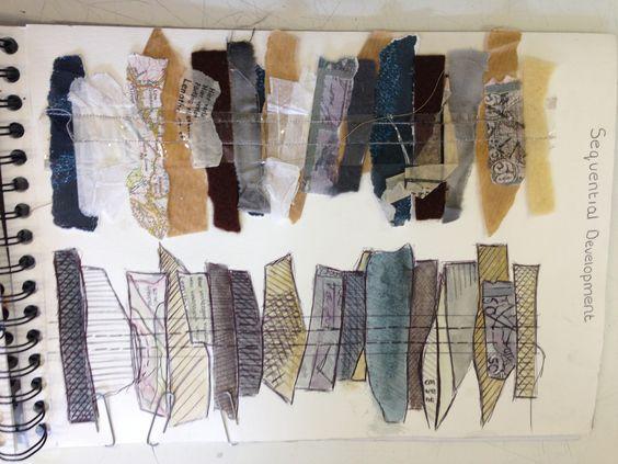 Fashion Sketchbook textiles fabric interpretations for design development