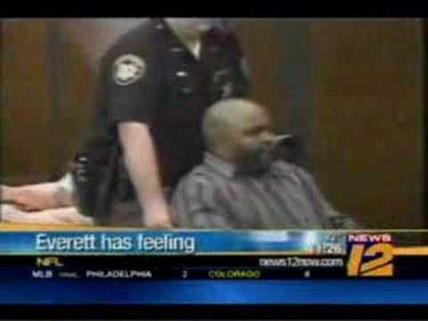 As Seen onTosh.0: News mistake...Kevin Everett kicks cop? This is a mistake made because they show the wrong video. News 12