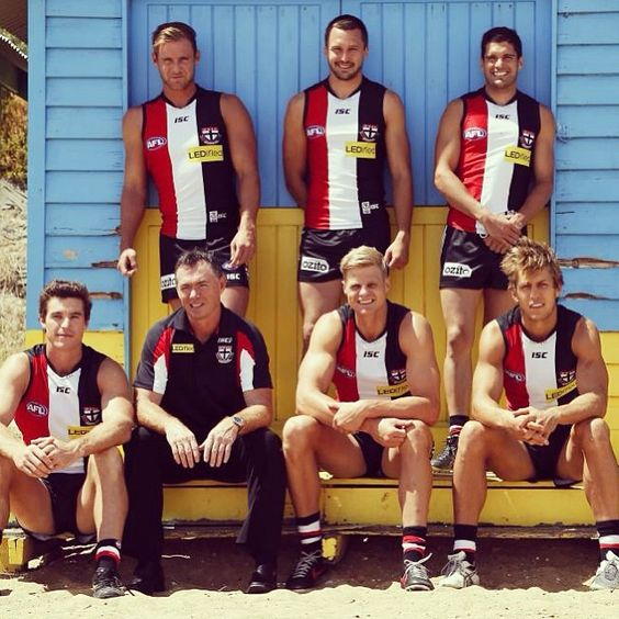 Proud to be leading the @stkildafc  with this great group of men. @lenny_hayes_ @armo_20 #gears #joey #shinna #richo