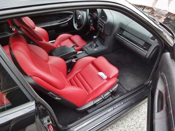 Fantastic bmw e36 interior with redish vader seats for Interior bmw e36