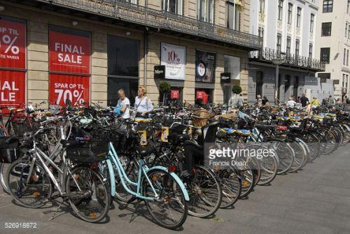 Copenhagen/Denmark/ 22 July 2015_Bike stands at kongen nytorv... #kongen: Copenhagen/Denmark/ 22 July 2015_Bike stands at kongen… #kongen