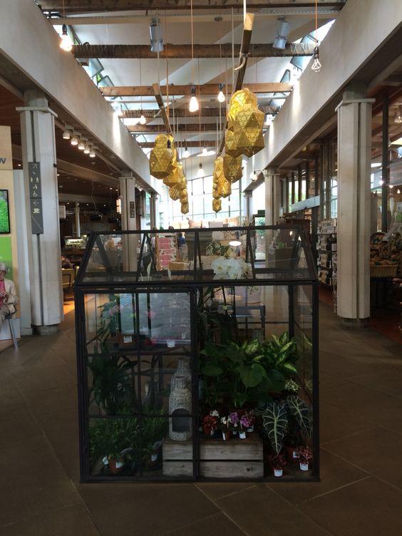 miniature glasshouse at kew garden shop