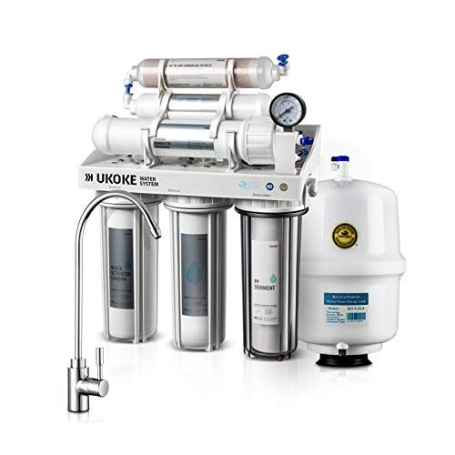 Amazon Ukoke Ro75g 6 Stages Reverse Osmosis Water Filtration Sink Ph Alkaline Remineralizing Ro Reverse Osmosis Water Reverse Osmosis Water Filtration System