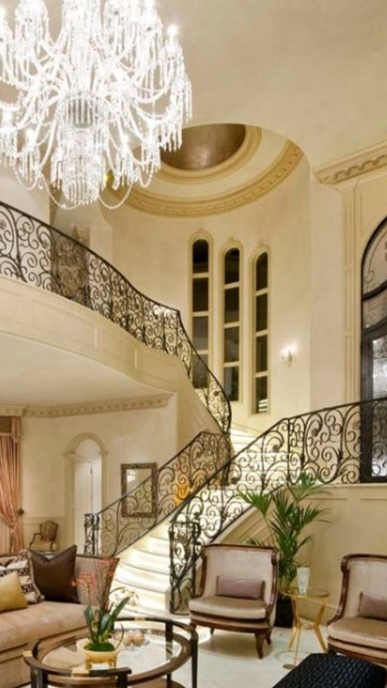 Luxury mansions luxury and mansions on pinterest for Luxury staircase