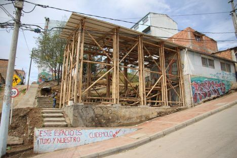 Colombian activist architecture collective Arquitectura Expandida will create a replica of a school in Bogota for the Fear and Love exhibition.