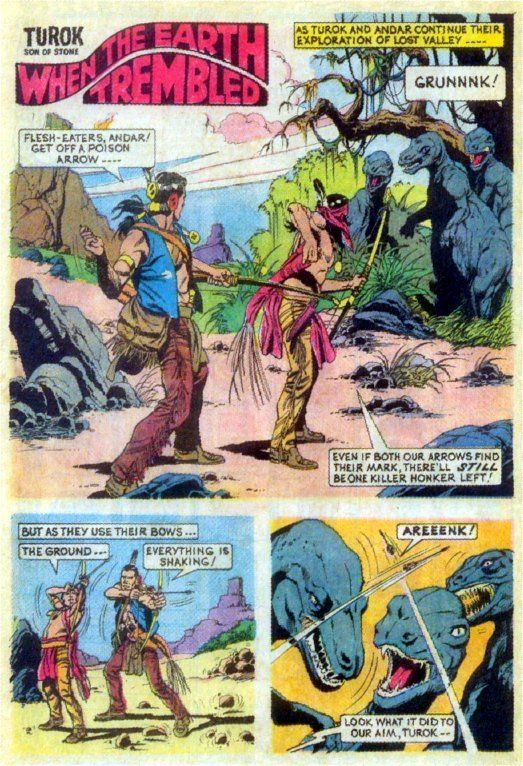 Turok Son Of Stone 83 1973 Art By Bob Correa Comic Book Pages Alternate Worlds Art