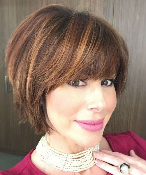 12 Of The Eye Catching Short Bob Haircuts for Women Over 40